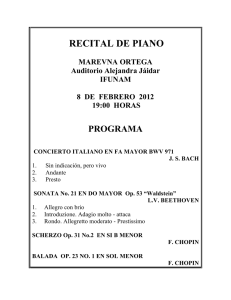recital de piano - Instituto de Física UNAM