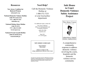 Safe House to Court Domestic Violence Safety Assistance Project