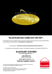 """ELASTILON HAS COME OUT ON TOP"" (1) ELASTILON® SYSTEMS"