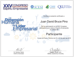 Juan David Bruce Pino - Quality Leadership University