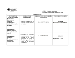 Acciones Evaluativas 6° Lengua Castellana P3
