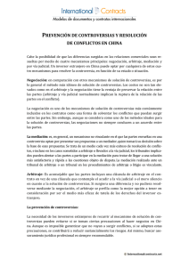 Prevención de controversias y resolución de conflictos en China