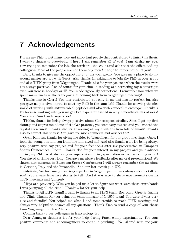 14 Dissertation Acknowledgements Examples - ()