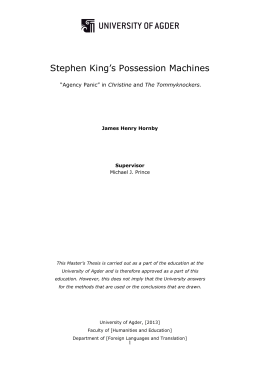 Stephen King`s Possession Machines