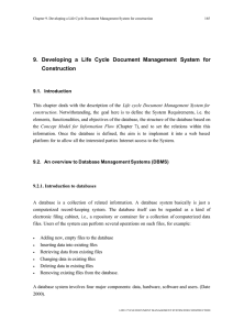 9. Developing a Life Cycle Document Management System for