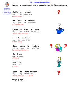Words, pronunciation, and translation for De Pies a Cabeza besará