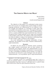 The Sorites Meets the Many - SciELO