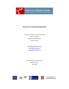 Party Law in Comparative Perspective