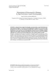 Determination of Ketoconazole in Shampoo by High Performance