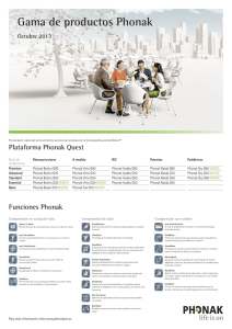 Gama de productos Phonak