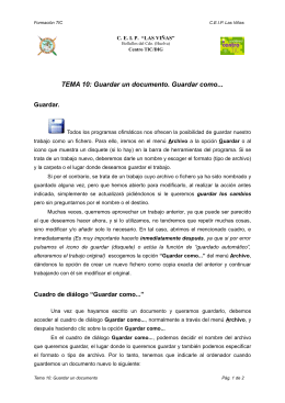 TEMA 10: Guardar un documento. Guardar como