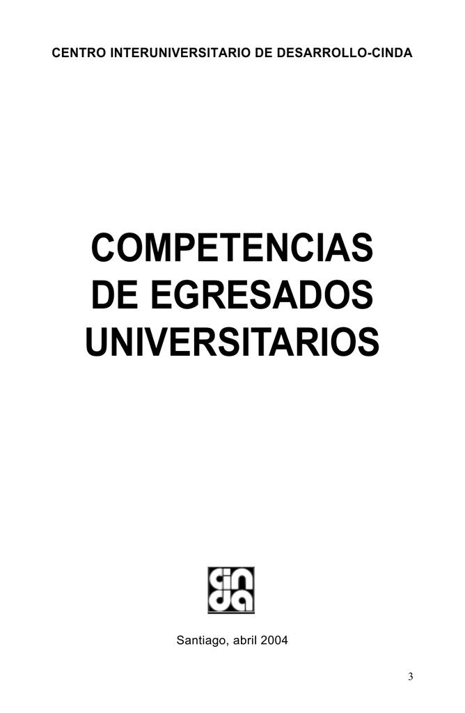 Competencias De Egresados Universitarios