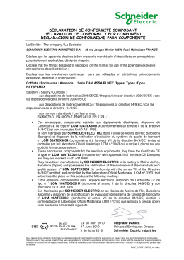 declaration de conformite composant declaration of conformity for