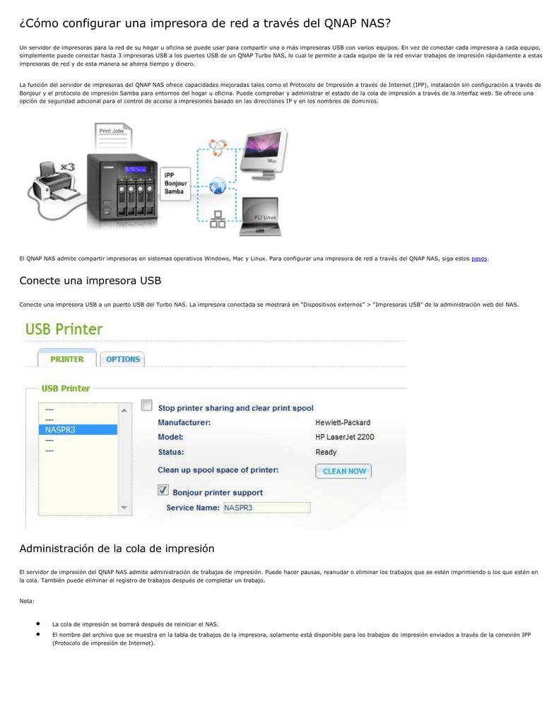 Cómo configurar una impresora de red a través del