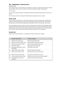Rubric and answer key - Trinity College London
