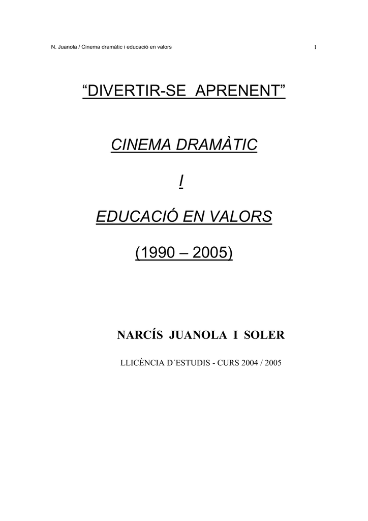 cinema dramàtic i educació en valors