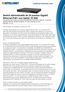 Switch administrable de 24 puertos Gigabit Ethernet PoE+