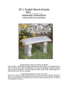 "35"" L English Bench-Granite SKU ______ Assembly"