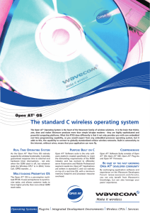 The standard C wireless operating system