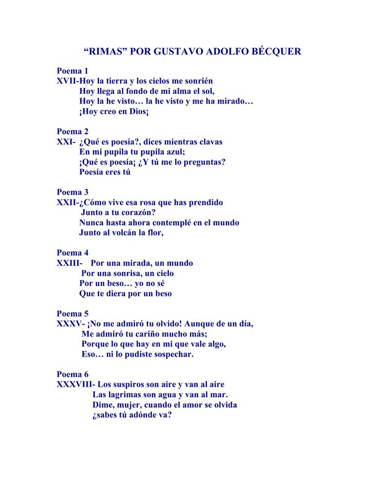 Memorizar El Poema De Becquer