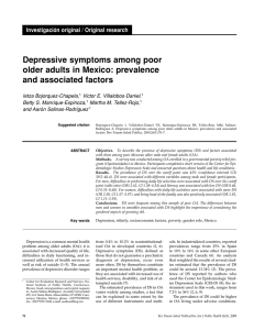 Depressive symptoms among poor older adults in Mexico