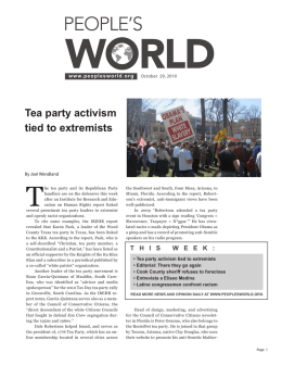 Tea party activism tied to extremists
