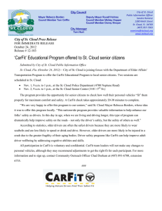 `CarFit` Educational Program offered to St. Cloud senior citizens