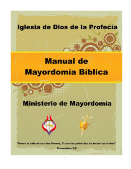 Manual de Mayordomía Bíblica