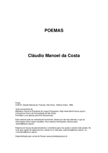 POEMAS Cláudio Manoel da Costa