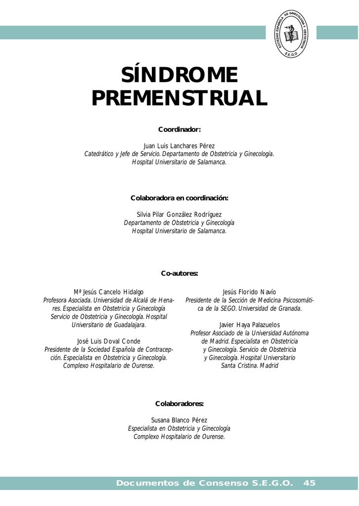 Sindrome premenstrual definicion