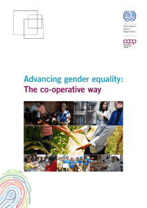 Advancing gender equality: The co-operative way