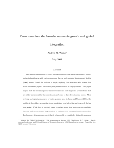 Once more into the breach: economic growth and global integration