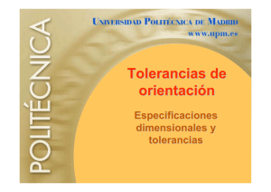 Tolerancias de orientación