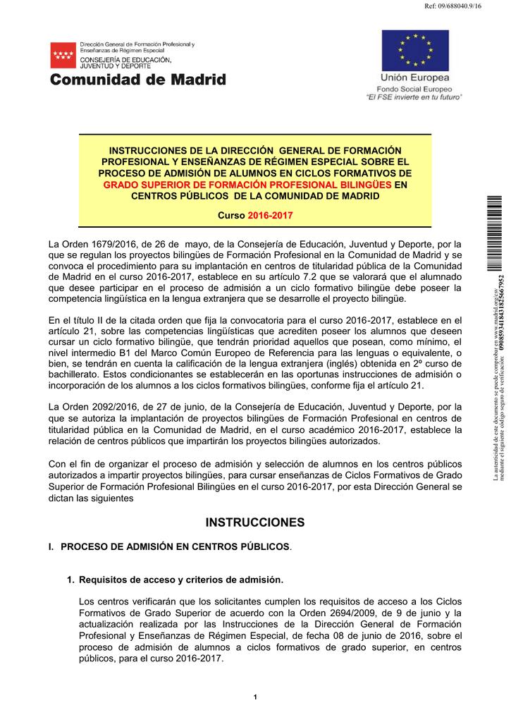 Instrucciones De La Viceconsejería De Educación