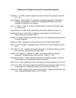 Diccionario references on english loanwords in puerto rican spanish malvernweather Gallery