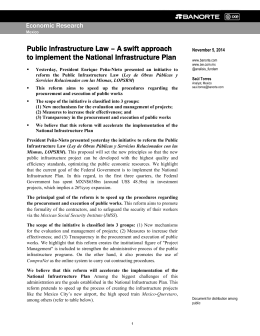 Public Infrastructure Law – A swift approach to implement