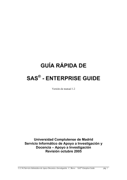 guía rápida de sas - enterprise guide