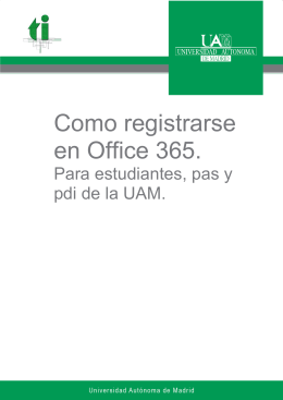 Como registrarse en Office 365