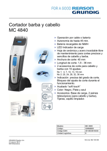 Cortador barba y cabello MC 4840