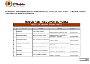 listado de medicos roble red