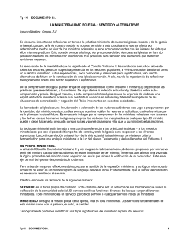 documento: 03. la ministerialidad eclesial