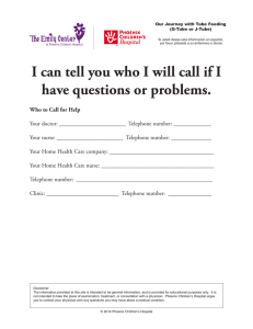 I can tell you who I will call if I have questions or problems.