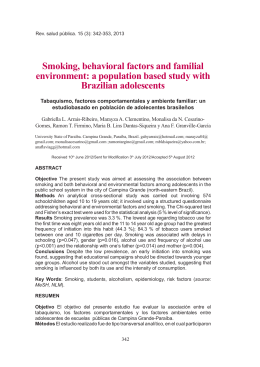 factors of smoking behavior The psychology of smoking why did you start smoking every pack of cigarettes has a warning from the surgeon general stating that smoking can be harmful to your health.