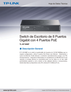 Switch de Escritorio de 8 Puertos Gigabit con 4