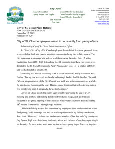 City of St. Cloud employees assist in community food pantry efforts