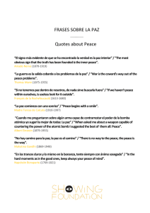 FRASES SOBRE LA PAZ Quotes about Peace