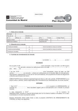 Contrato de arrendamiento de vivienda urbana y accesorios for Oficina liquidadora madrid