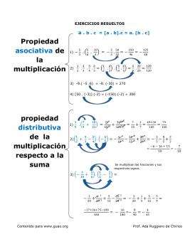 Propiedad conmutativa. En una multiplicación de dos factores, si
