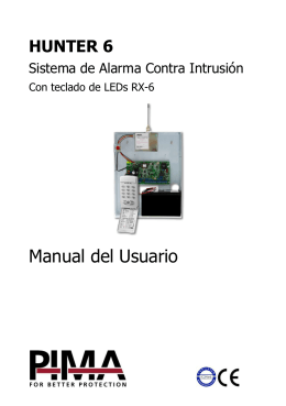 Manual del Usuario - PIMA Electronic Systems