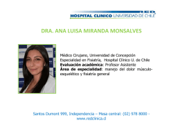 dra. ana luisa miranda monsalves - Hospital Clínico Universidad de